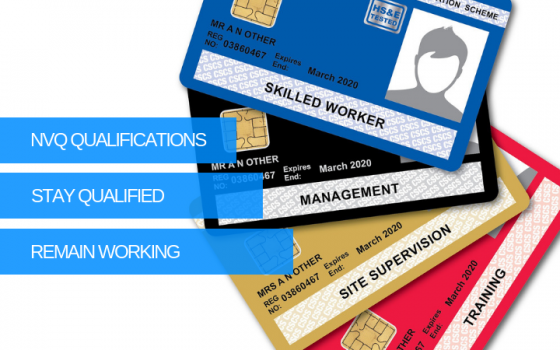 Construction NVQ's for CSCS Card Types